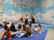 Deti počúvajú výklad p. knihovníčky